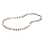 AA+ Quality White Akoya Necklace, 6.0-6.5mm