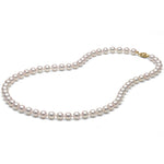 AA+ Quality White Akoya Necklace, 6.5-7.0mm