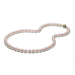 AA+ Quality White Akoya Necklace, 7.0-7.5mm