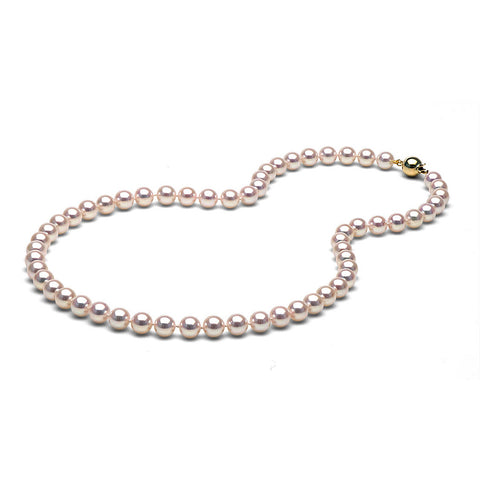AA+ Quality 7.0-7.5mm Akoya Cultured Pearl Necklace