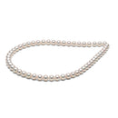 White Hanadama Akoya Pearl Necklace, 7.0-7.5mm