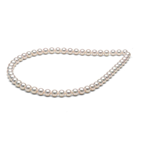 AAA Quality 7.5-8.0mm Hanadama Saltwater Cultured Pearl Necklace