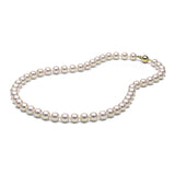 AAA Quality White Akoya Necklace, 8.0-8.5mm