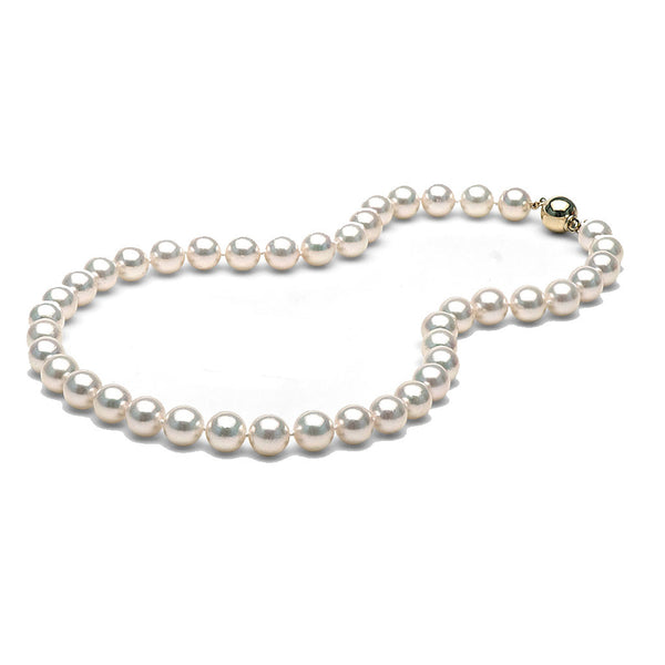 AA+ Quality 9.0-9.5mm Akoya Cultured Pearl Necklace