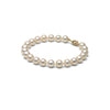 AA+ Quality 7.5-8.0mm White Freshwater Cultured Pearl Bracelet