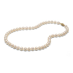 AAA Quality 6.0-7.0mm White Freshwater Cultured Pearl Necklace