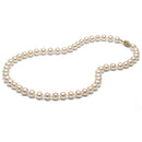 AA+ Quality White Freshwater Necklace, 6.5-7.0mm