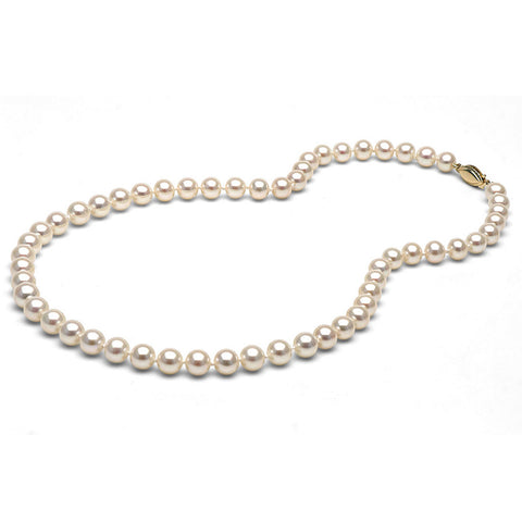 AAA Quality 6.0-7.0mm White Freshwater Orient Pearl Necklace