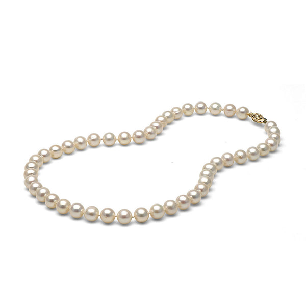 AAA Quality 7.0-8.0mm White Freshwater Cultured Pearl Necklace
