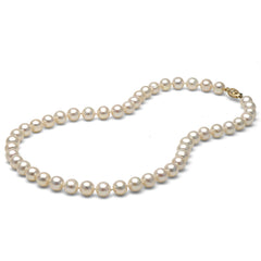 AA+ Quality 7.5-8.0mm White Freshwater Cultured Pearl Necklace