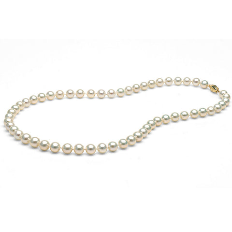 AAA Quality 7.0-8.0mm White Freshwater Orient Pearl Necklace