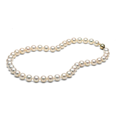 AAA Quality 8.0-9.0mm White Freshwater Orient Pearl Necklace