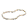 8.0-9.0mm White Freshwater Gem Grade Pearl Necklace