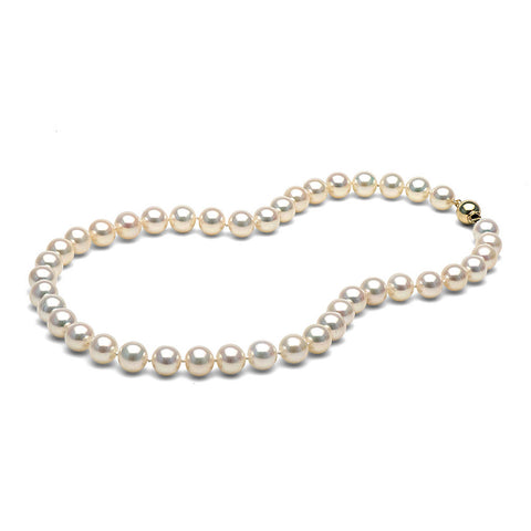 AAA Quality 9.0-9.5mm White Freshwater Orient Pearl Necklace