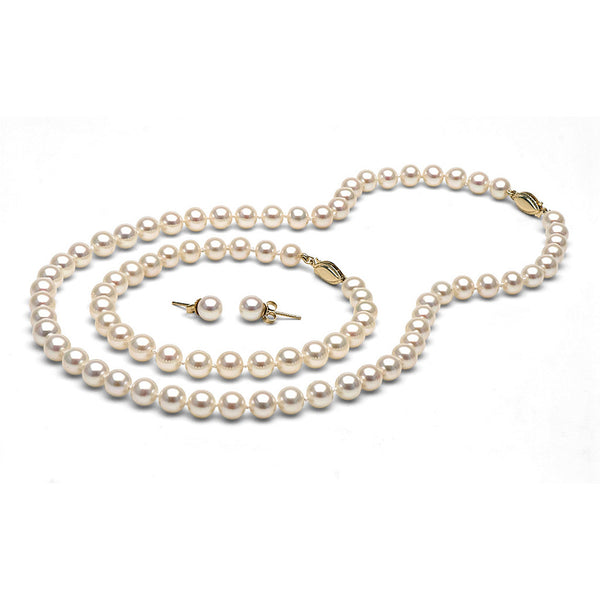 6.0-7.0mm White Freshwater Gem Grade Pearl Set