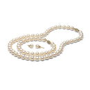 AAA Quality White Freshwater Pearl Set, 7.5-8.0mm