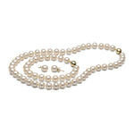 AA+ Quality White Freshwater Pearl Set, 8.5-9.0mm
