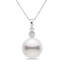 AAA Quality White Akoya Seduction Pearl Pendant, 6.0-9.5mm