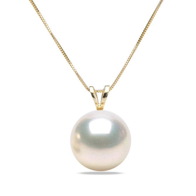 AAA Quality White Freshwater Desiree Pearl Pendant, 6.5-11.0mm