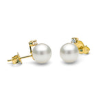 Diamond Accent White Freshwater Pearl Earrings, 6.5-8.0