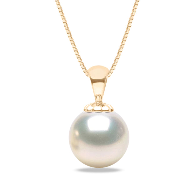 AAA Quality White Freshwater Obsession Pendant, 6.5-10.0mm