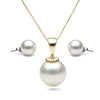 8.0-14.0mm White South Sea Obsession Pendant & Stud Earrings