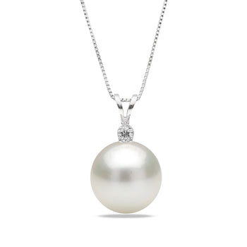 AAA Quality 9.0-14.0mm White South Sea Pearl Victoria Pendant Collection
