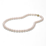 AA+ Quality White Akoya Necklace, 8.0-8.5mm