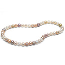Multi-Color Freshwater Gem Grade Necklace, 8.5-9.0mm