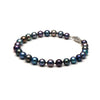 AAA Quality 6.5-7.0mm Black Freshwater Cultured Pearl Bracelet