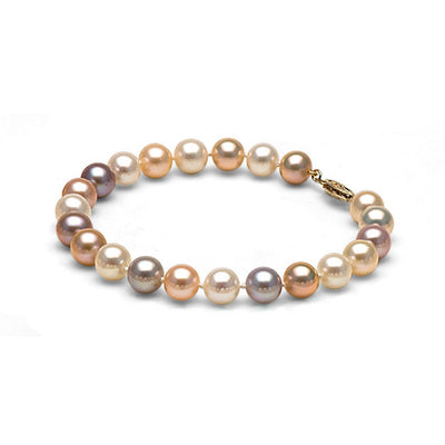 AAA Quality Multi-Color Freshwater Bracelet, 7.5-8.0mm