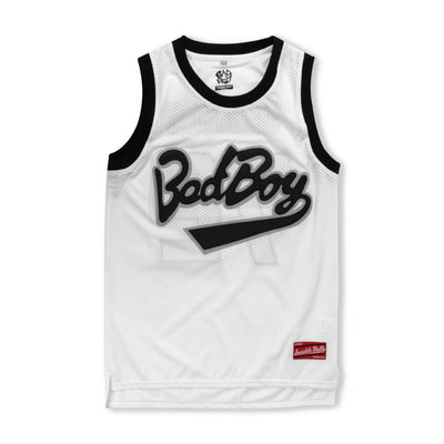 Bad Boy Mesh Basketball Jersey [White]