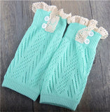 New Soft Winter Warm Trendy Knitted Lace Leg Warmers ***FREE INSURED SHIPPING.