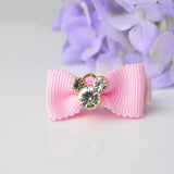 1 piece Cat Girls Hairpins Baby Children Hair Holder Pink hair accessories with crystal. ***FREE INSURED SHIPPING.