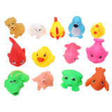 13-Piece Cute Soft Rubber Float Squeeze Bath Toys ***FREE INSURED SHIPPING.