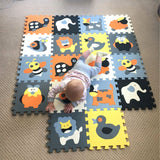 18-Pieces Cartoon Animal Pattern Carpet ***FREE INSURED SHIPPING.