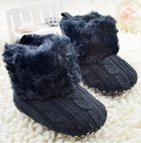 Toddler Knited Faux Fleece Snow Boots