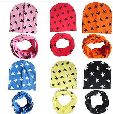 2 Piece Stars Winter Cotton Beanie