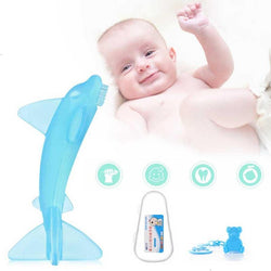 Soft Shark Silicone Teether Toothbrush