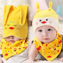 2 Piece This Cartoon Chapeau Beanie with Triangle Scarf    FREE INSURED  SHIPPING. 8a39ddabbf5a