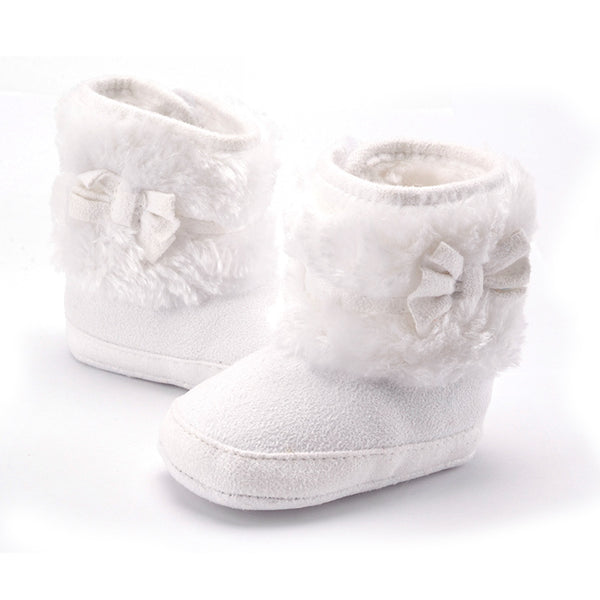 50% OFF+FREE SHIPPING: Hand-Knitted Bowknot Fleece Snow Boots *Black Friday Secret Shoe Collection