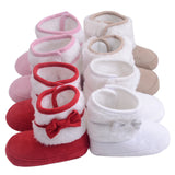 Hand-Knitted Bowknot Fleece Snow Boots ***FREE INSURED SHIPPING.