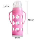 Silicone Glass 240ml Feeding Bottle ***FREE INSURED SHIPPING.