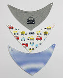 3 Pcs High Quality Fashion Brand Baby Bibs ***FREE INSURED SHIPPING.