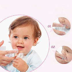50% OFF+FREE SHIPPING: Infant Silicone Finger Teether Toothbrush