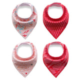 4PCS/lot Infant Baby Boy Girl Bibs Toddler Triangle Bibs Newborn Burp Clothes ***FREE INSURED SHIPPING.