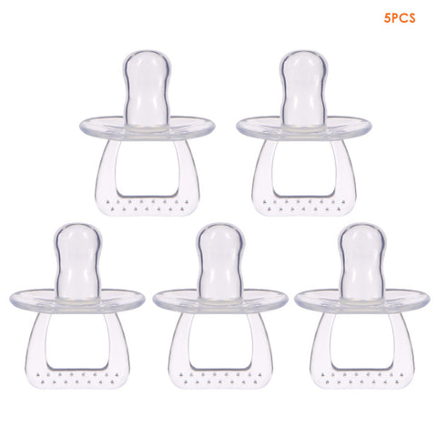 5 Piece Silicone Pacifier Set ***FREE INSURED SHIPPING.