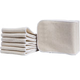 5 Pieces Hemp Organic Cotton Inserts ***FREE INSURED SHIPPING.