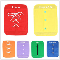 6-Piece Set Dress Boards Early Education Teaching Aid ***FREE INSURED SHIPPING.