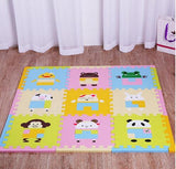 9 Piece Cartoon Animal Play Carpet ***FREE INSURED SHIPPING.
